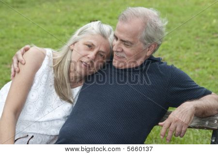 Senior Couple with Unhappy Wife