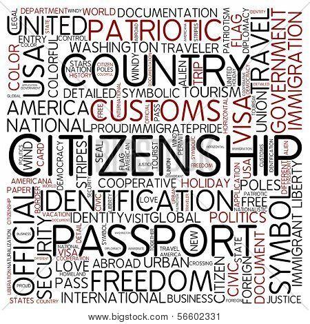 Word cloud - citizenship