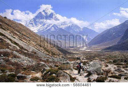 Khumbu Valley in the Sagarmatha (Mount Everest) National Park in Nepal