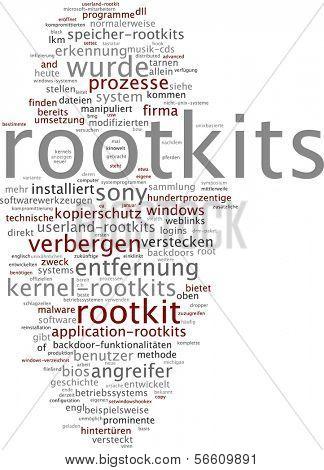 Word cloud - rootkit
