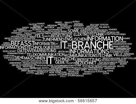 Word cloud -  IT department