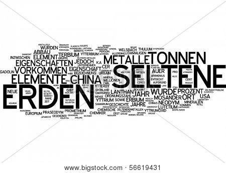 Word cloud - Rare earth element