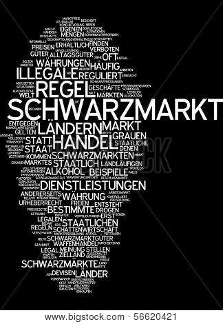 Word cloud - black market