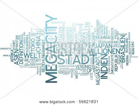 Word cloud - megacity