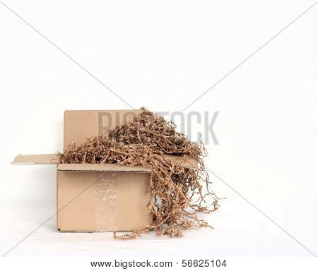 Shipping Box with Environmentally Friendly Packing Materials