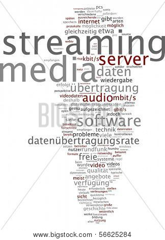 Word Cloud - Streaming Media poster