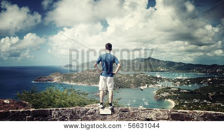 Falmouth Bay - View from Shirley Heights, Antigua