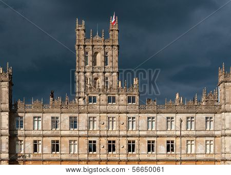 NEWBURY, UK - CIRCA OCTOBER 2011: Highclere Castle is the main setting for the ITV period drama Downton Abbey. Downton Abbey is broadcasted in more than 100 countries.