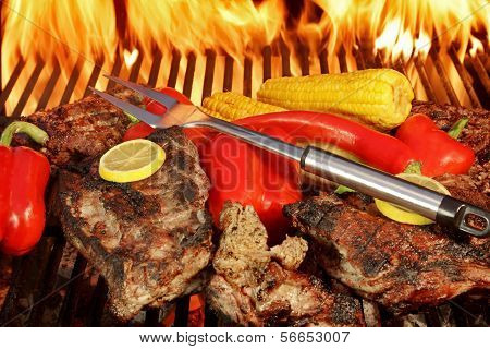 Grilled Rebuy Steaks and Vegetables XXXL