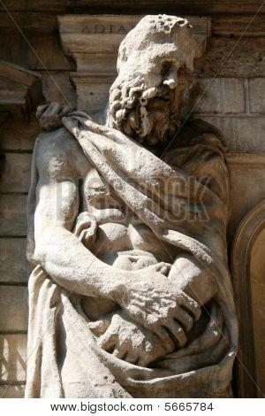 Gigantic men sculptures