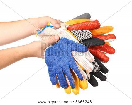 Protective different gloves