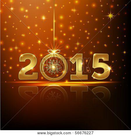Golden 2015 Year Greeting