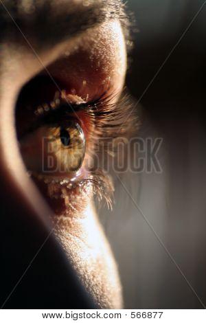 I Am Sad  Female Eye Closeup