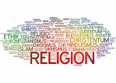 Word cloud - religion poster