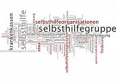 Word cloud - Support group poster