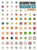 Set of colorful editable business symbols | business concepts | geometric shapes | decoration | techno icons poster