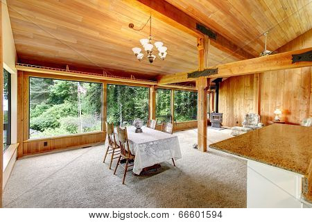 Log Cabin House Interior