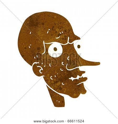 cartoon evil old man poster