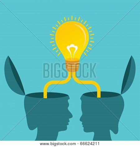 Male and female together make a idea stock vector