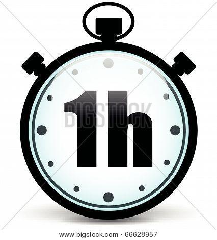 Vector One Hour Stopwatch