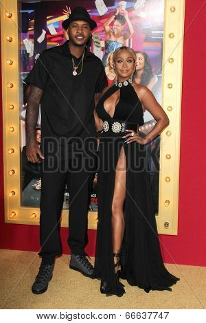 LOS ANGELES - JUN 9:  Carmelo Anthony, Lala Anthony at the