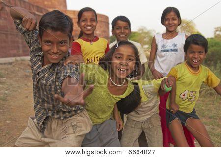 Boisterous Indian Children