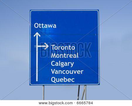 Road Sign Canada