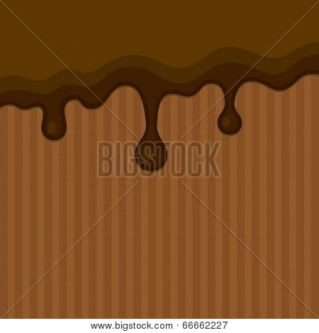 Milk Melted Chocolate Streams Background. Vector