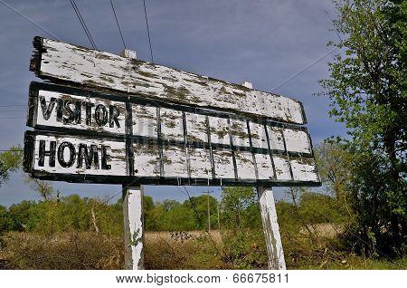 Baseball Wooden Scoreboard
