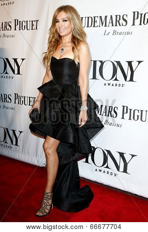 NEW YORK-JUNE 8: Singer Thalia attends American Theatre Wing's 68th Annual Tony Awards at Radio City Music Hall on June 8, 2014 in New York City.