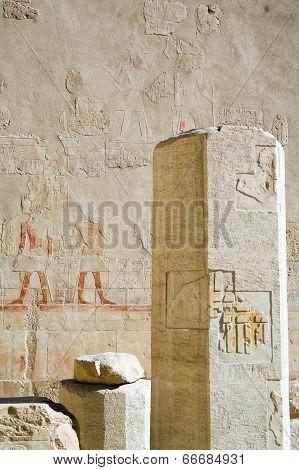 Pillar in temple of Hatchepsut