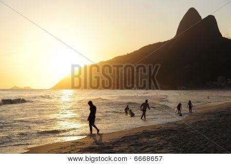 Sunset At The Beach, Rio De Janeiro, Leblon