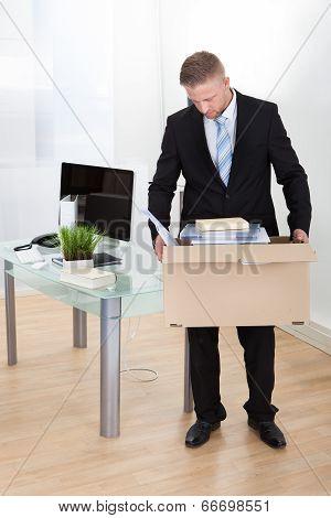 Dejected Businessman Made Redundant