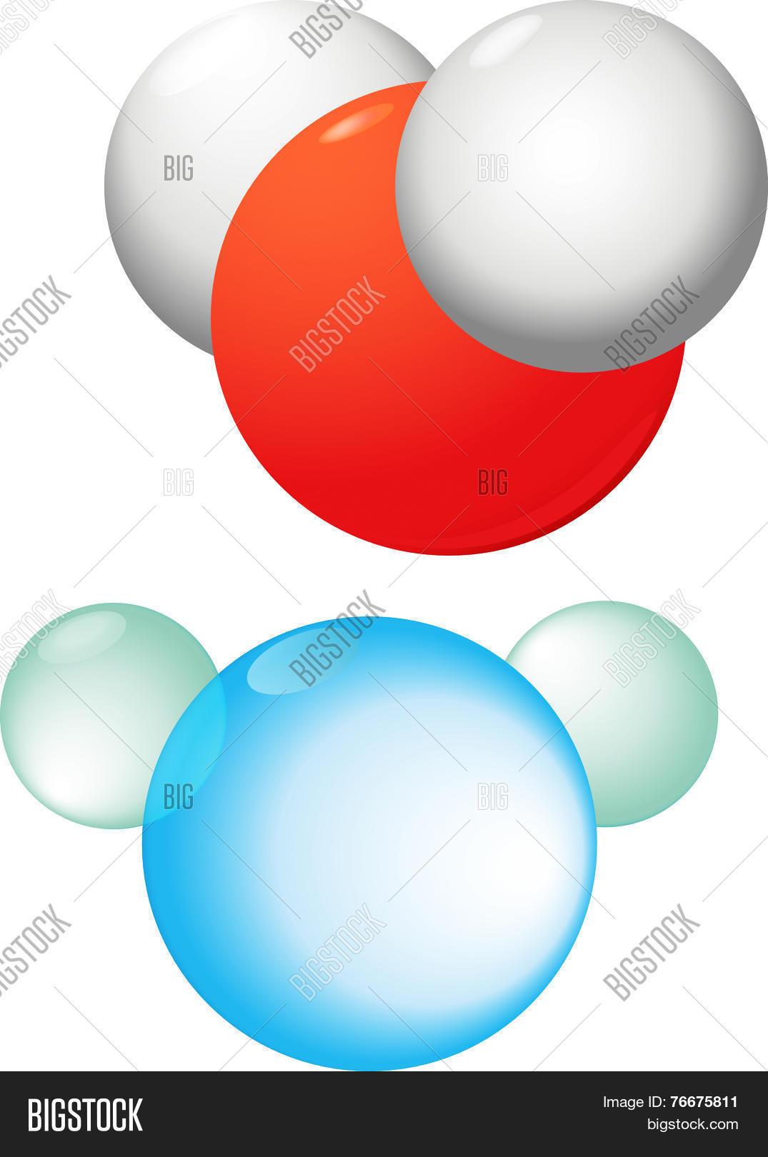 Water Molecule Vector Photo Free Trial Bigstock Diagram Of