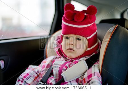 Baby Girl In Car Seat