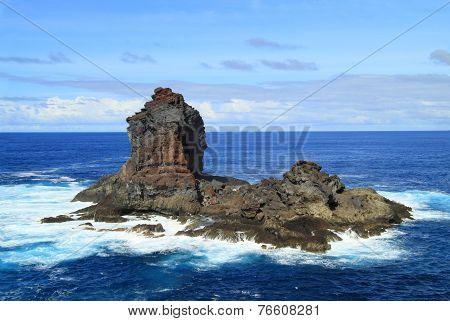 Huge rock in the ocean