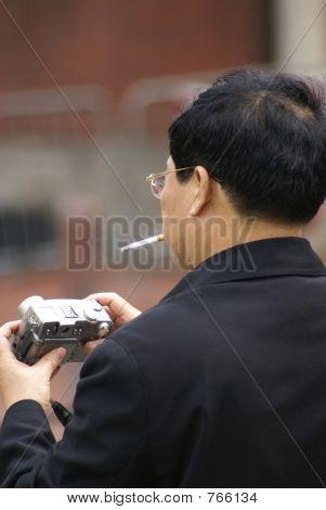 Smoker And Camera