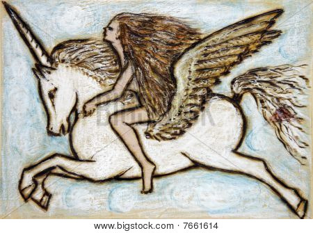 Girl With Pegasus