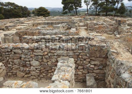 Part Of The Ancient Minoan City Of Phaistos In Crete