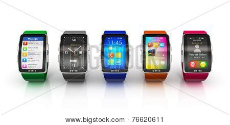 Collection of smart watches