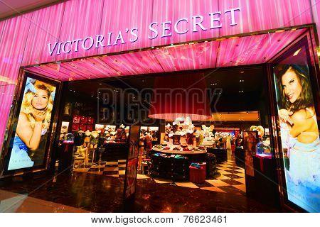 DUBAI - OCT 13: Victoria's Secret shop in Dubai Mall on October 13, 2014 in Dubai, UAE. The Dubai Mall located in Dubai, it is part of the 20-billion-dollar Downtown Dubai complex