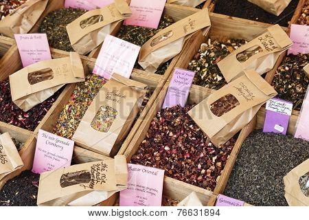 Herbs Exposed For Sale On Cours Saleya