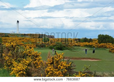 Moray Golf Course and Covesea Lighthouse