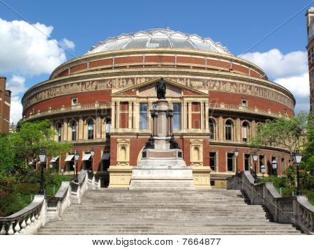 The Royal Albert Hall opened by Queen Victoria in 1871 is Britain's foremost arts theatre and is best known for holding The Proms each year poster
