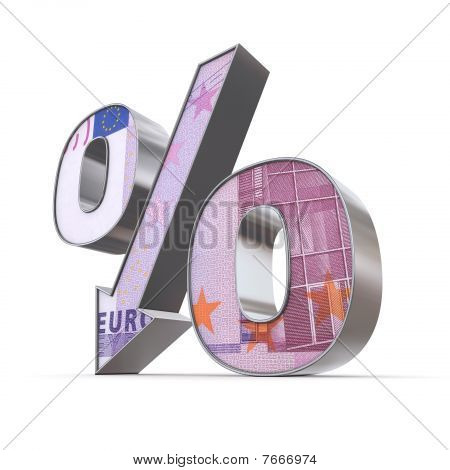 Shiny Percentage Down - 500 Euro Note Texture