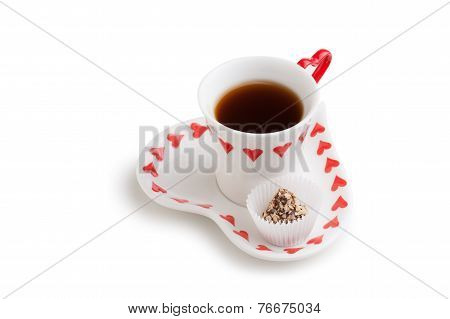 Cup Of Tea And Candy