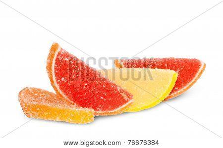 Slices Of Fruit In Sugar
