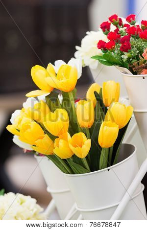 Artificial Yellow Tulips