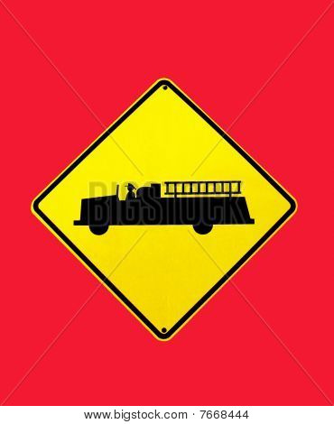 Traffic sign on red background