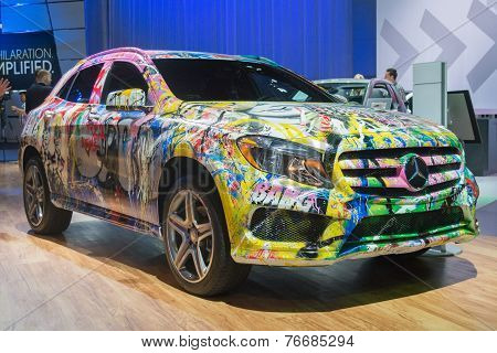 The Mercedes With A Graffiti Skin